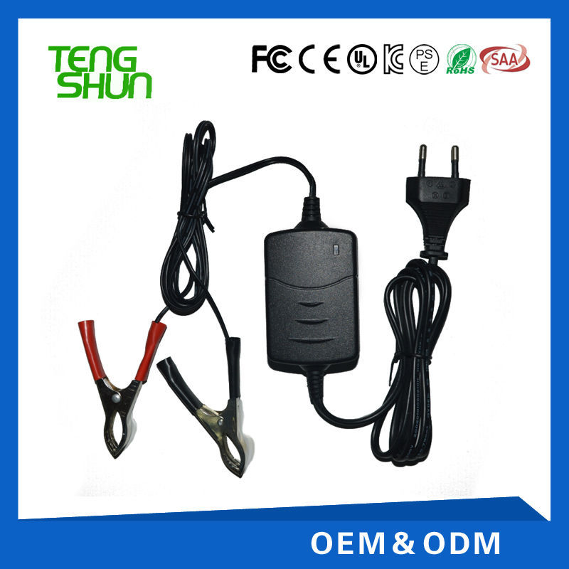 12v 1amp automatic intelligent sealed agm dynamo lead acid battery charger for 12v 7ah battery