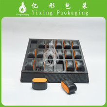 Black PU leather display disc sets of 18 whatch box manufacturer in Guanzhou