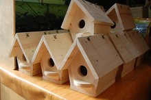 Small Wooden wood carved cheap bird houses