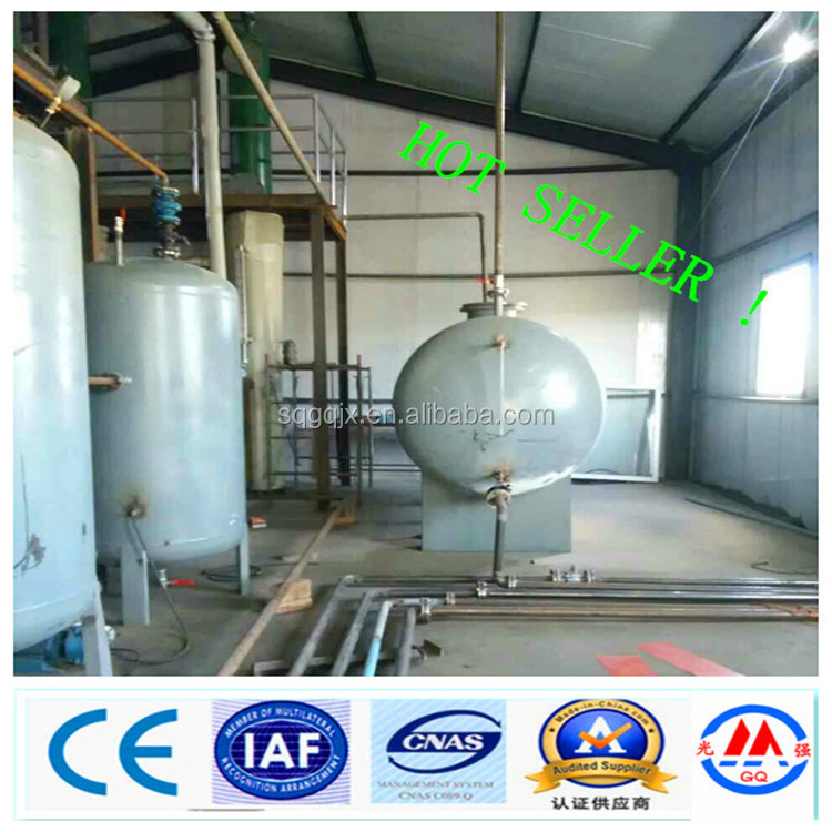 2015 waste tire scrap plastic oil refining to diesel oil distillation equipment without pollution