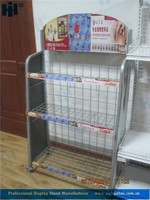 3-tier removable metal wire shelving rack for pet food, wire shelving stand for pet stores