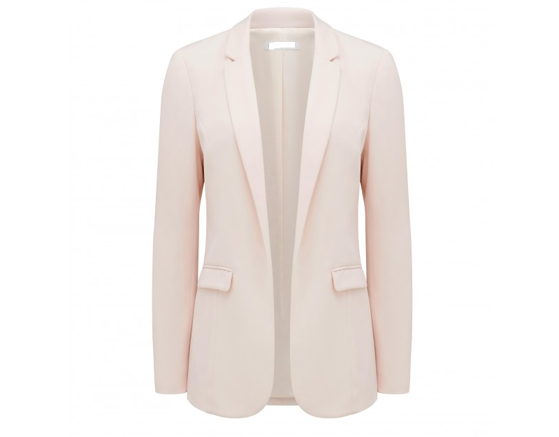 2016 Women long sleeve pink blazers, office lady coat in spring
