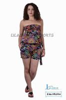VP2774 Cotton Printed Short Jumpsuit Trouser Dresses jump suit Ropa Vetement Babacool Hindu Ropa beachwear Dresses