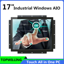 High Brightness 17 inch Capacitive Touch All in One PC for Embedded Application