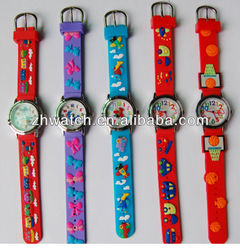2013 kids animal watch silicone strap multiple styles and colors made in China manufactory popular kids watch for Christmas gift