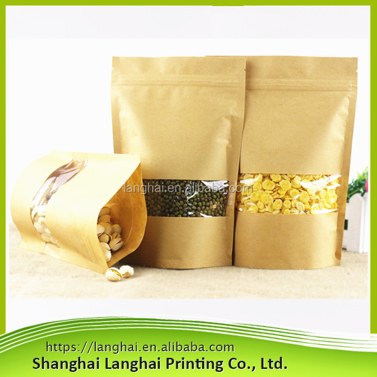 Dry Food Peanuts Packaging High Quality Brown Kraft Paper Bag/Stocklot Factory Wholesale Competitive Price Best Paper Bags Kraft