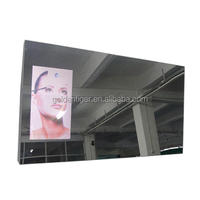 "18.5""advertising magic mirror display lcd wifi advertising player android led display magic mirror embedded 55"" ordinary mirror"