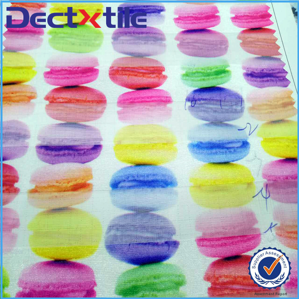 Fashion digital balloon/candy wholesale organza fabric factory