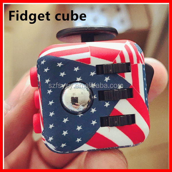 2017 Wonderful United States Of American Flags Fidget Cube Toys