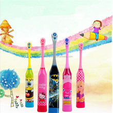 Battery powered Children electric toothbrush with Customized Cartoon design
