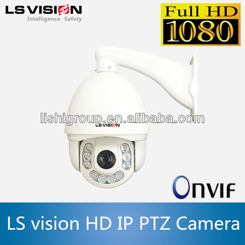 LS VISION outdoor network speed dome support 1080p ONVIF suppoted ir outdoor ptz ip camera poe