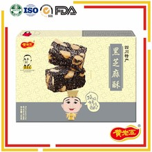 Top selling holiday gift 180g sweet crispy black sesame candy
