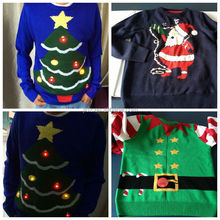 2014 unisex christmas sweater with led light