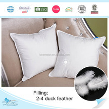 2-4cm white duck feather cushion insert