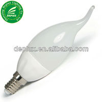 Candle LED bulb candle LED light candle LED lamp Ceramic material high quality C37 G45 2W 3W E14 B22 E27 base SMD3014