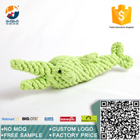 Cute wholesales animal design recycle jute rope toy for dog chew toy