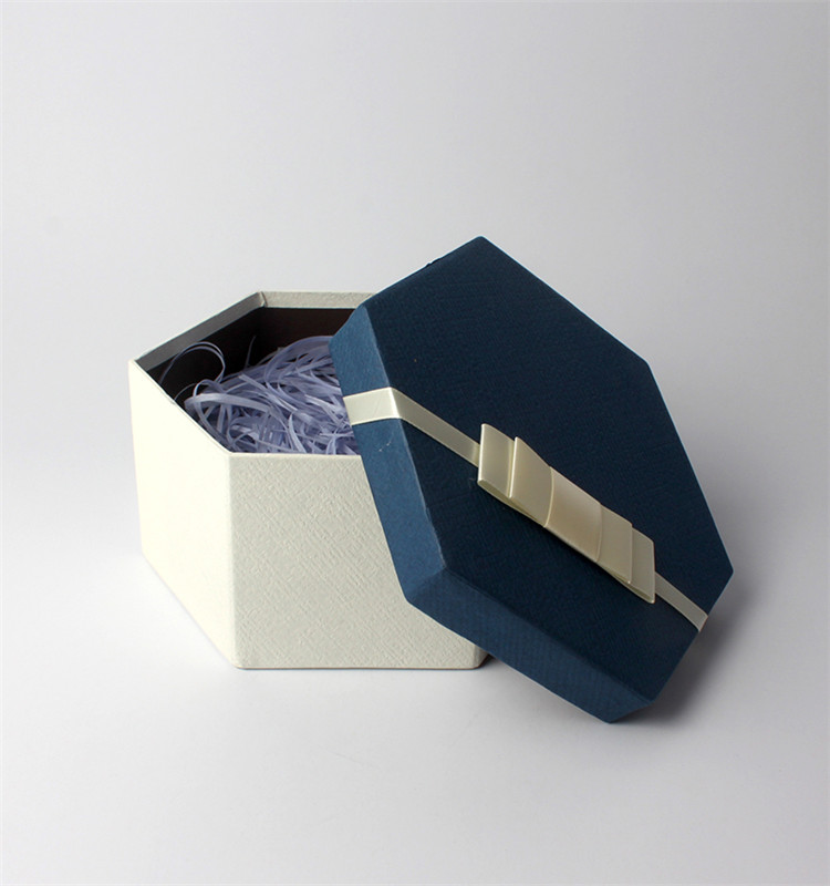 Round Shape Package Cardboard Hat Box With Ribbon