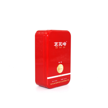 Tea Packaging Tins Rectangular Small Tin Box With Removable Interference Fit Covers