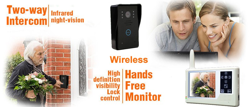 "3.5"" LCD wireless video door phone intercom manufacturer"