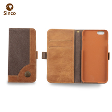 2017 online smart phone wallet style genuine leather phone case for iphone6/6s