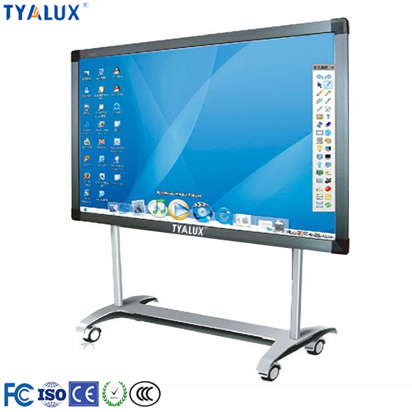 Hot sale 70 inch LCD touch screen monitor smart tv display with educational whiteboard software for schools