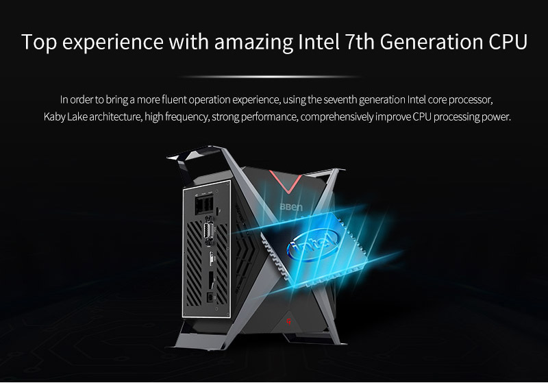 2018 BBEN new product X-BOX barebone mini gaming desktop PC support different CPU/GPU