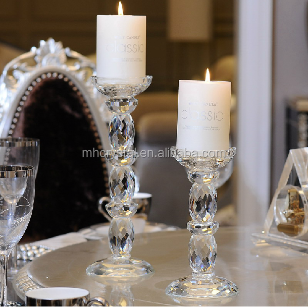 Crystal Candle Holder Pillar Holder Candlestick MH-1820