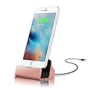 For iPhone Desk Stand, Charge and Sync Docking Station for iPhone, Charger Dock Station for iPhone X/8/8 Plus/7 Plus/6s Plus