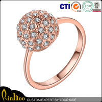 Dazzling Diamond Ball Ring Delicate Rose Gold Ball ring For Ornament,Cock Ball Ring