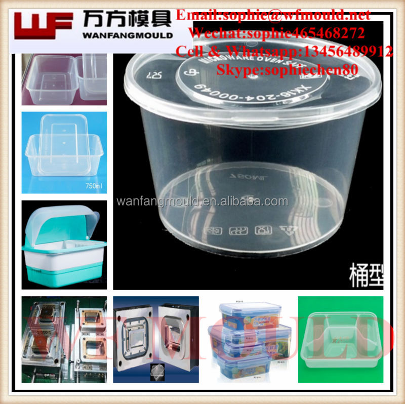 Different kinds of Round Container Mould with Threaded Lid/OEM plastic injection Round Container and lid Mold