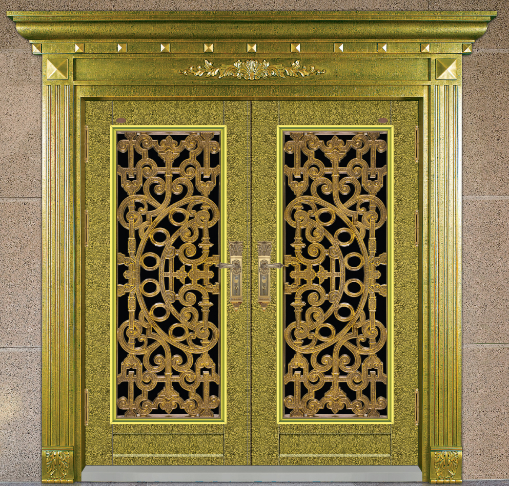 Original color outward or inward opening luxury design stainless steel entry door / security door HL-9118