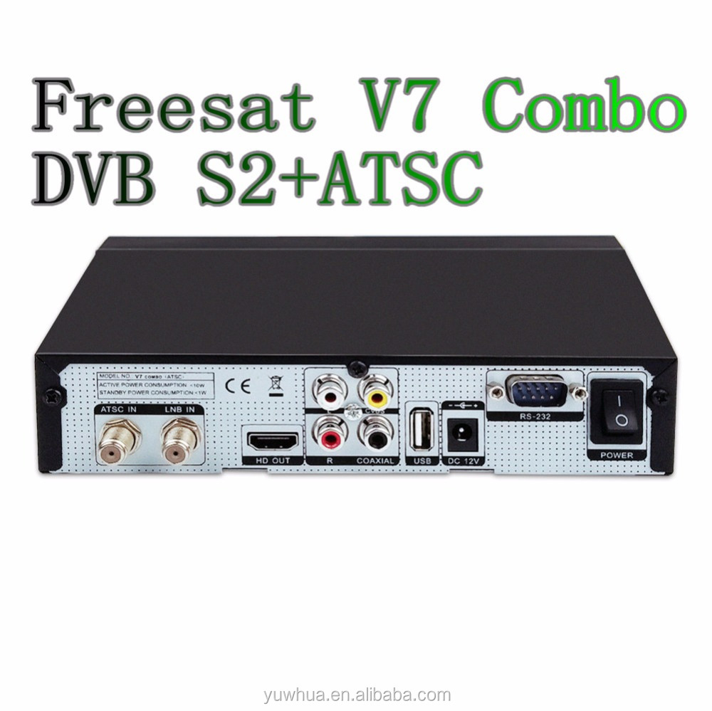 Freesat V7 combo dvb s2 ATSC in set top box Digital satellite receiver mpeg4 c ku band lnb mexico market