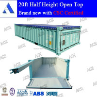 Soft open top for 20ft half height container with tarpaulin