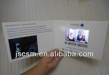 2.4inch LCD screen invitation card video greeting brochure electronic paper card