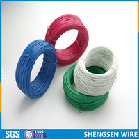 Cheap Q195 pvc coated galvanized steel wire ISO9001 manufactory