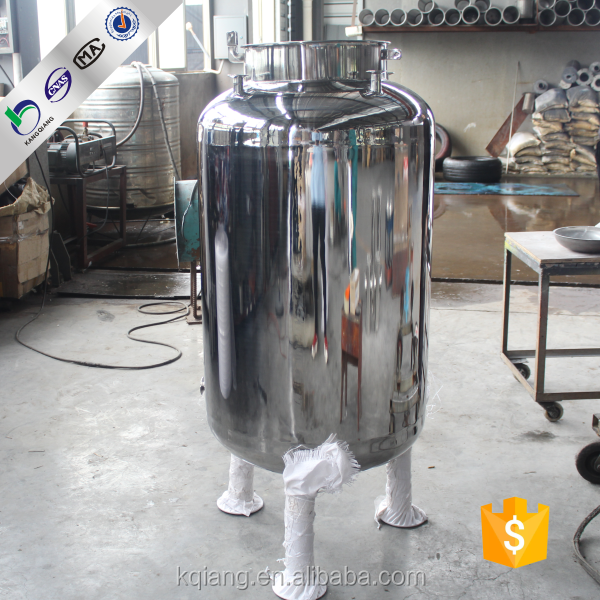 Kangqiang 0.5T 304 stainless steel 5000l cold well water storage tank price for water treatment plant