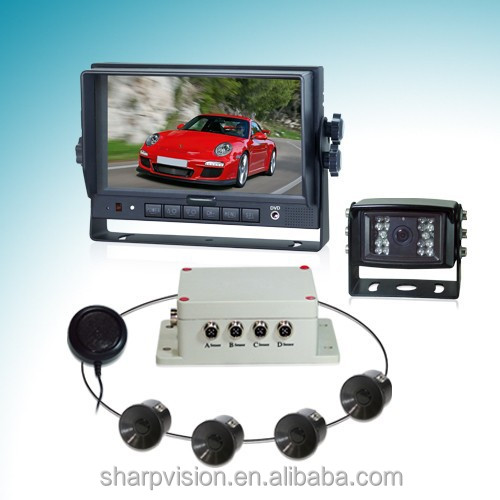 7inch rear view car camera truck parking sensor system