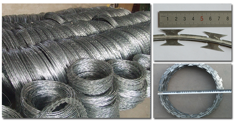An Ping Five Star Manufacture Razor Barbed Wire/ Galvanized Razor Barbed Wire