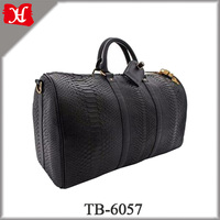 Hot sales genuine python snake skin leather travel bag fashion duffel bag