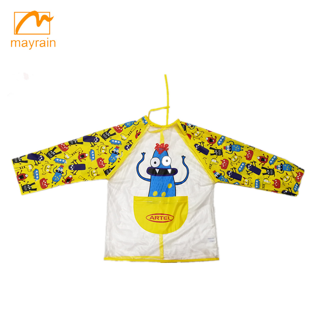 Smock Art Painting Drawing Waterproof Artist PVC Kids Aprons