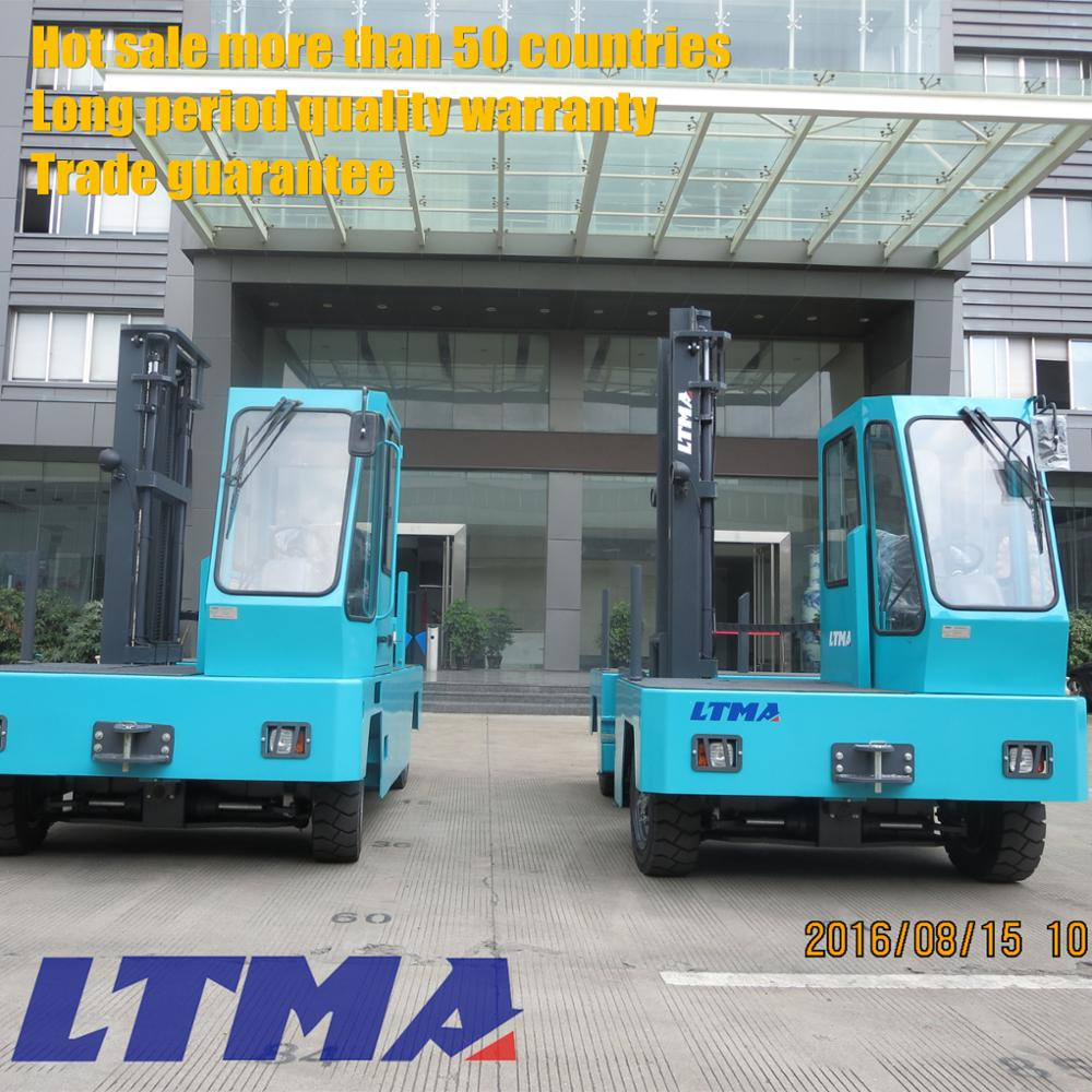 High quality mini 3 ton electric side loader forklift truck price