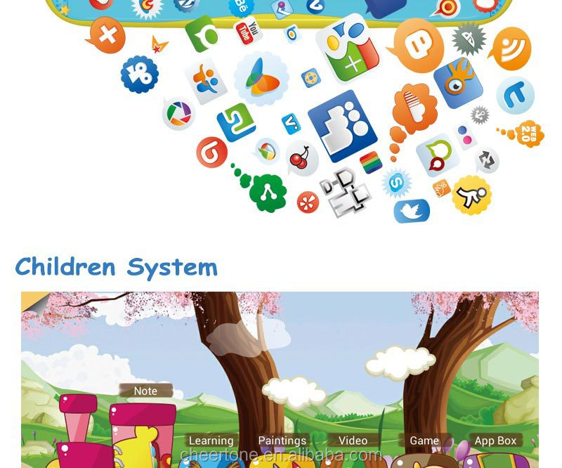Newest and hottest selling 7 inch children android kids tablet pc for education and learning