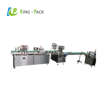 high speed pharmaceutical vial liquid filling crimping labeling machine
