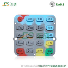 High Precision Overmolded Access Control Waterproof Keypad for POS Machine
