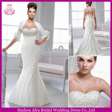 SD1355 half sleeve jacket organza mermaid wedding dresses to wear to a wedding