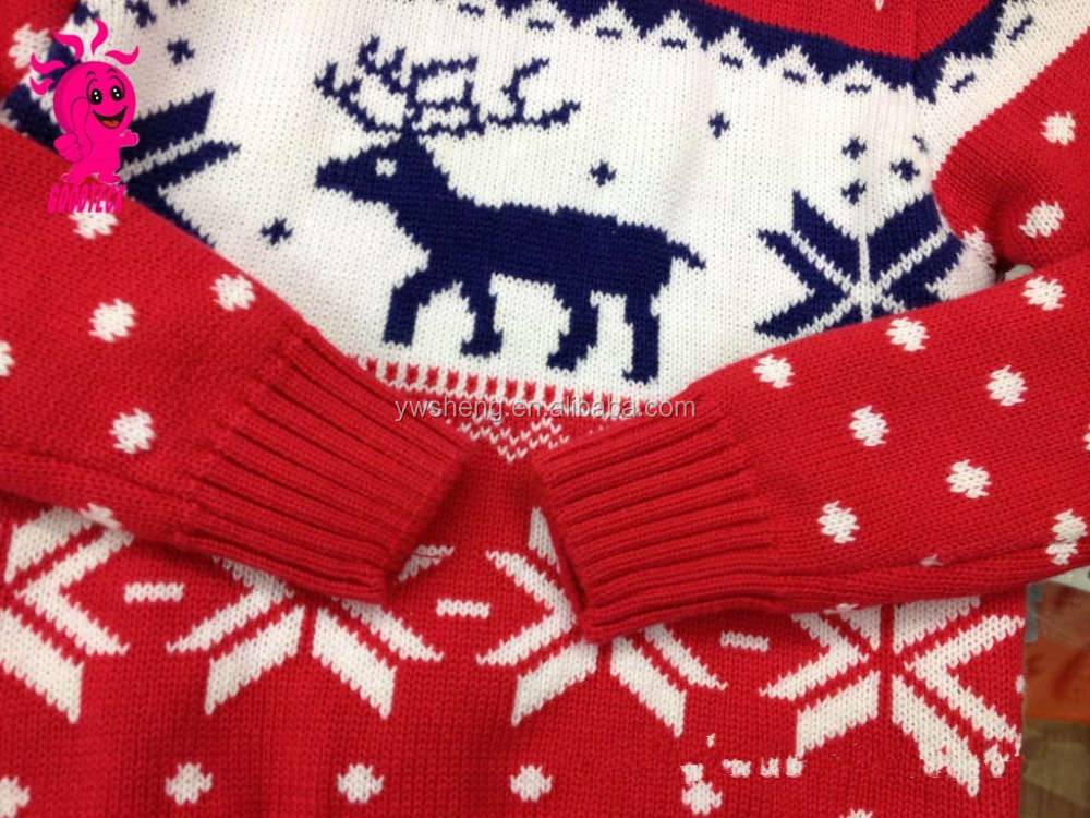 Ugly Christmas Jumper Knitting Pattern : Ugly Unisex Christmas Pullover Sweater With Knitting Patterns/kids Knitting C...