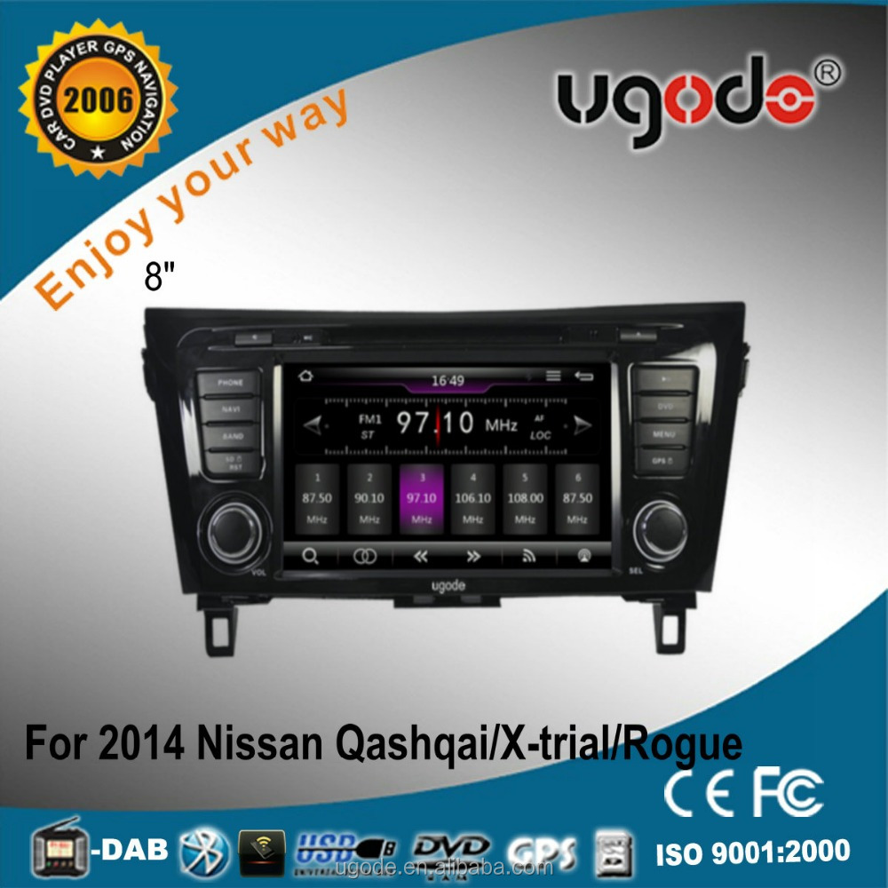ugode U7 Wince 6.0 Autoradio Car Multimedia Player for Nissan Qashqai X-trail Rogue music video display