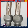Diamond finger router bits for marble and other stone.