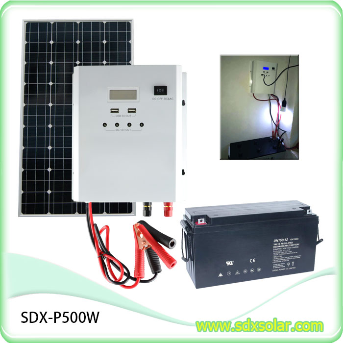 Intelligent Solar Charge Controller Kit Mini Hibrid Inverter 500W