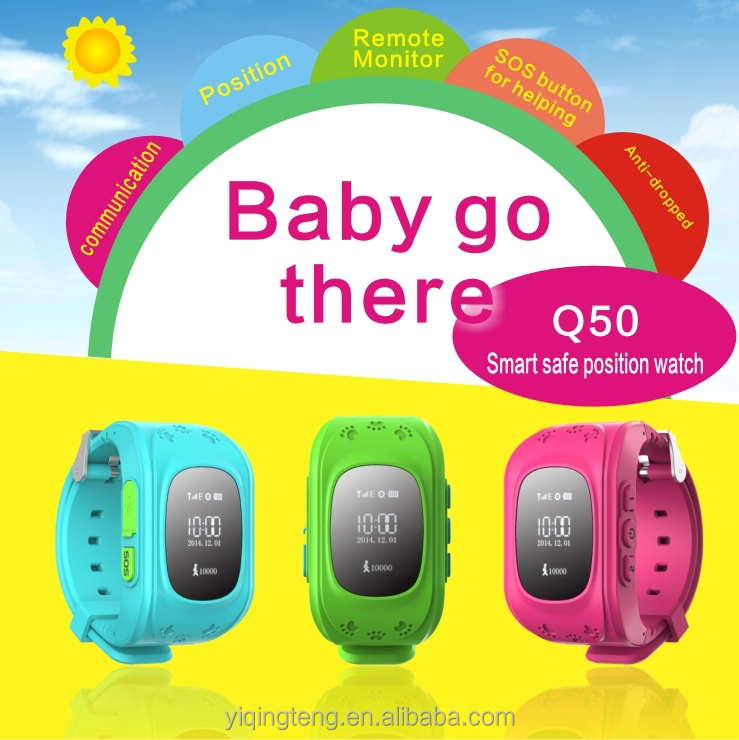 YQT Wrist watch Tracker/gps tracking device for kids Q50